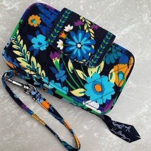 Vera Bradley Wristlet Wallet ID Midnight Blue
